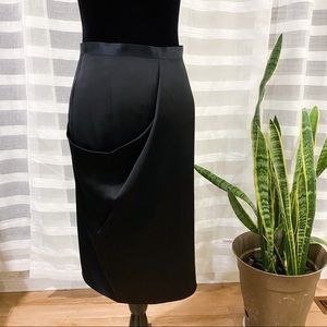 Chanel Silk Wrap Midi Skirt SZ EU 36